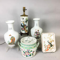 Five Pieces of Asian Porcelain