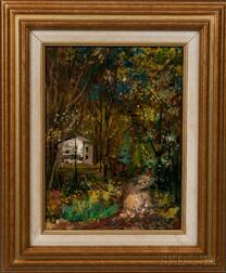 Vladimir Lebedev (Russian, 1910-1989)    House in an Autumn Wood