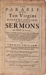 Shepard, Thomas (1605-1649) The Parable of the Ten Virgins.