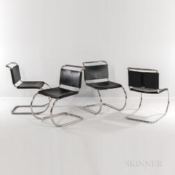 Four Mies van der Rohe for Knoll International MR533 Chairs