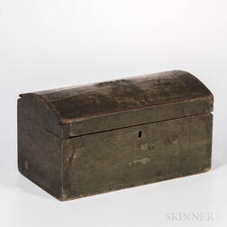 Small Blue-painted Dome-top Box