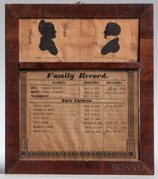 Printed and Framed Keep Family Record