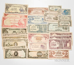 Group of Japanese Invasion Money