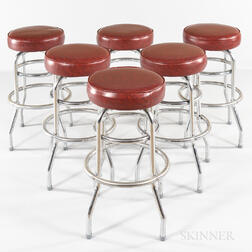 Six Royal Industries Rotating Bar Stools