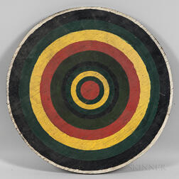 Painted Concentric Ring Dart Board