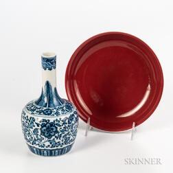 Two Ming-style Ceramic Items