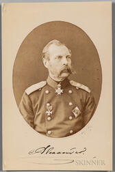 Alexander II, Emperor of Russia (1818-1881) Signed Photograph.