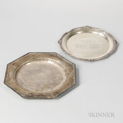 Two American Sterling Silver Presentation Platters