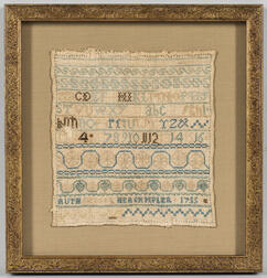 """Ruth Badger"" Needlework Sampler"