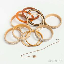 Group of Celluloid Sparkler Bangles
