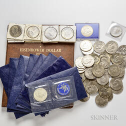 100 Mostly Eisenhower Dollars.     Estimate $50-100