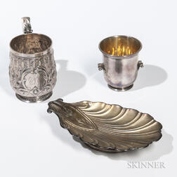 Three Pieces of American Silver Tableware