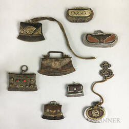 Eight Flint and Tinder Pouches