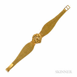 Lady's 18kt Gold Covered Wristwatch, Ralco
