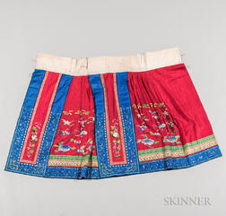 Han-style Pleated Apron Skirt, Baizhequn