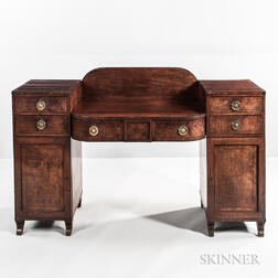 Regency Mahogany and Mahogany-veneered Pedestal Sideboard