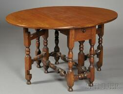Small Cherry and Maple Gate-leg Table