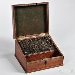 Holtzaphel Mahogany Case and Associated Cutters