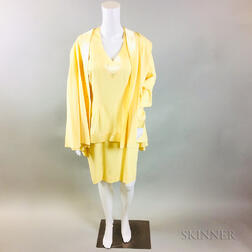Retro David Josef Yellow Silk Ensemble