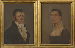 John Brewster, Jr. (American, 1766-1854)      Pair of Portraits of Lydia Singer Newhall and Samuel Pratt Newhall.