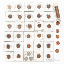 Group of Indian Head and Lincoln Cents