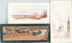 Three Racing-related Lithographs