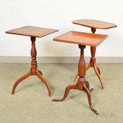 Three Federal Cherry Candlestands
