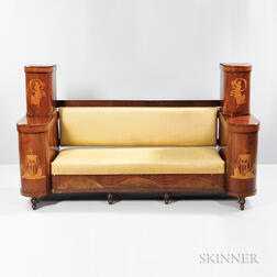 Biedermeier Inlaid Settee