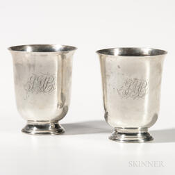 Pair of Silver Beakers