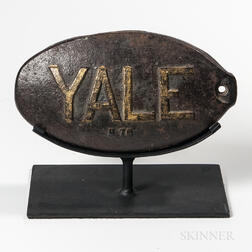 "Cast Iron ""YALE"" Windmill Weight"