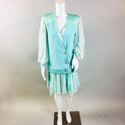Retro David Josef Turquoise Outfit