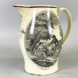 Liverpool Transfer-decorated Ceramic Jug