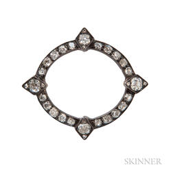 Antique Diamond Circle Brooch