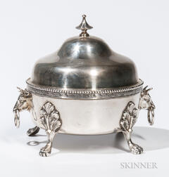 Shreve, Brown & Co. Sterling Silver Butter Dish