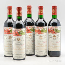 Chateau Mouton Rothschild 1989, 5 bottles