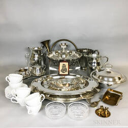 Group of Metal, Ceramic, and Wood Decorative Items