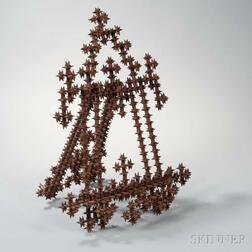 """Tramp Art-style """"Thorn"""" Table Easel"""