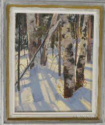 Bob Nally (American, 1938-1990)      Birches in Winter