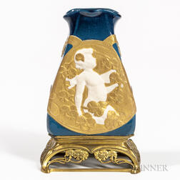 Paul Louchet Vase with Gilt-bronze Base