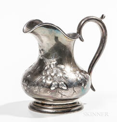 Lincoln & Foss Coin Silver Cream Jug