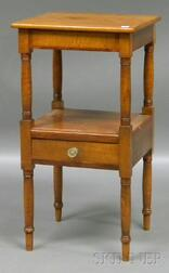 Cherry and Maple Washstand.