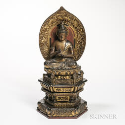 Gilt-lacquered Figure of Dainichi Buddha