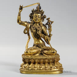 Gilt-bronze Statue of Manjusri