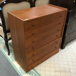 Small Danish Modern Teak Six-drawer Chest