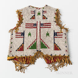 Plains Pictorial Beaded Hide Child