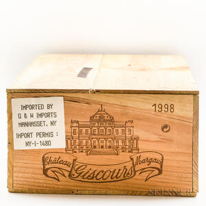 Chateau Giscours 1998, 12 bottles (owc)