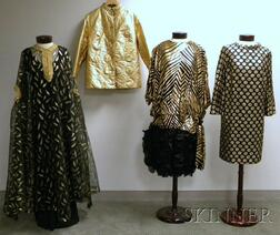 Four Black and Gold Lady's Clothing Items