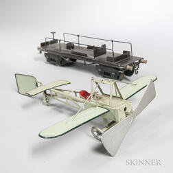Marklin Gauge 1 Flat Car with Airplane