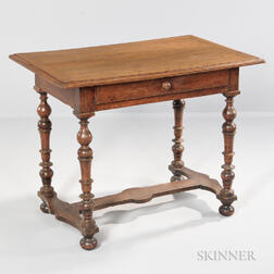 Baroque-style Fruitwood Worktable