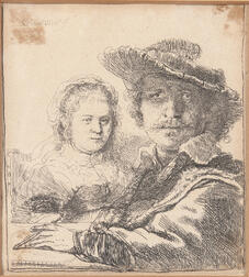 Rembrandt van Rijn (Dutch, 1606-1669)      Self-Portrait with Saskia, 1636,